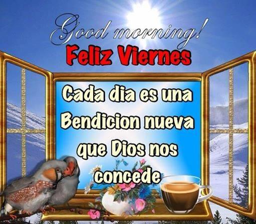 feliz viernes bendicion