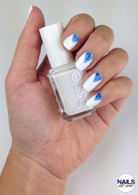 "Used: Essence Studio Nails 24/7 Nail Base -  Essie ""Blanc"" -  P2 Color Victim ""Remember Me"" -  Essie ""Style Cartel"" -  Seche Vite Dry Fast Top Coat -  Striping Tape"
