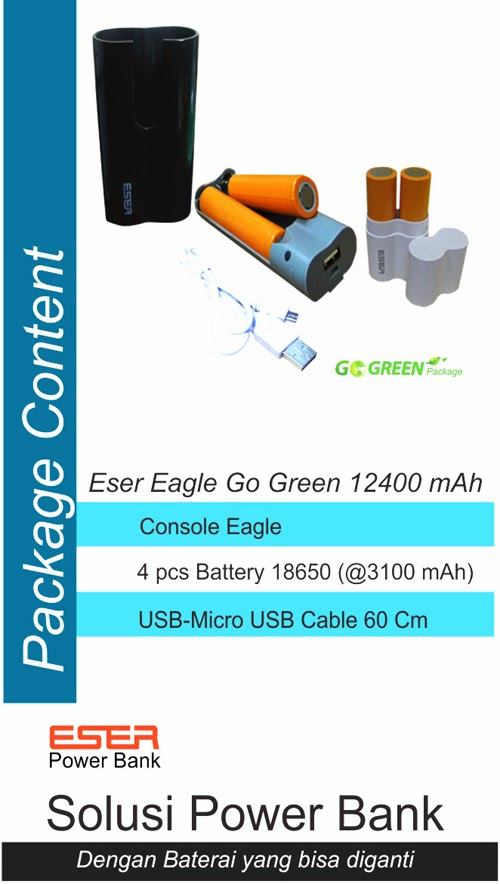 Power Bank Eser Eagle Go-green 12400 mAh