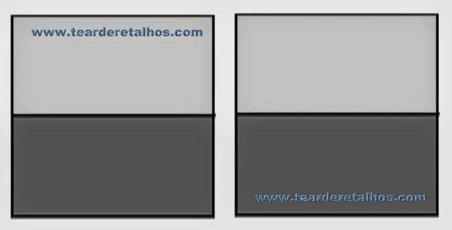 Quadrados de duas cores de retalhos de patchwork