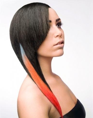 Ultra-Glam Rainbow Hair Highlights 2014
