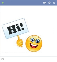 Greeting Hi emoticon