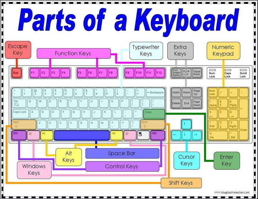 Computer Parts Parts of a Computer Keyboard
