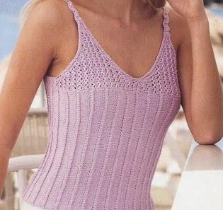 Blusa de Tirantes a Dos Agujas o Knitting