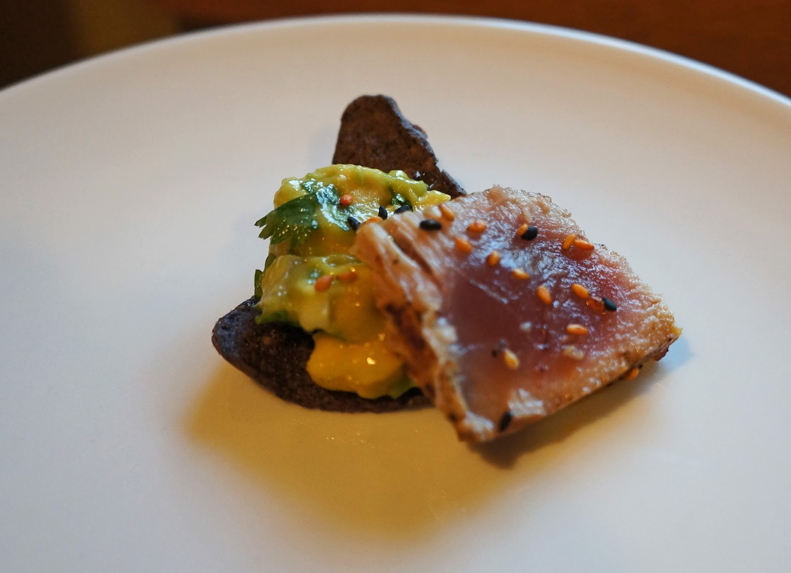Foodie: A Twist on Fish & Chips: Seared Ahi Tuna with Mango Avocado ...