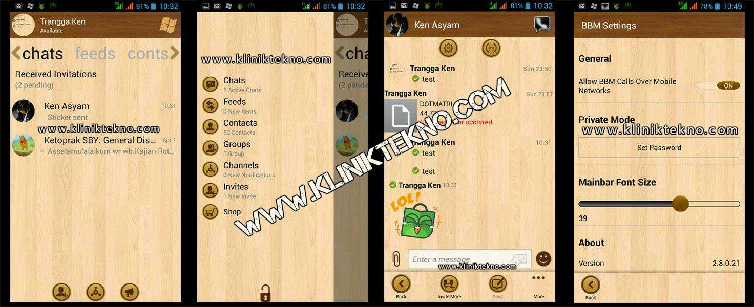 BBM Mod WP Wood Clone v2.8.0.21 by Trangga Ken