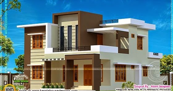 204 square meter flat roof house kerala home design and floor plans - House plans atticsquare meters ...