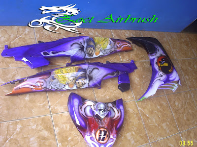 Modifikasi Airbrush Jupiter MX 2011 motif Dragon Ballz