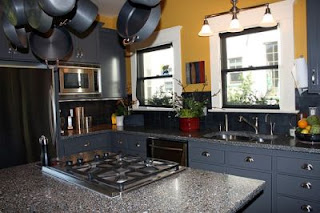 dark grey kitchen cabinet