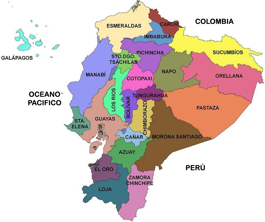 Ecuador Mapa Politico