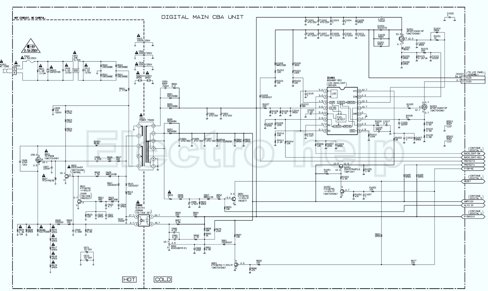 Lcd Tv Led Lcd Tv Main Power Smps Schematic Circuit