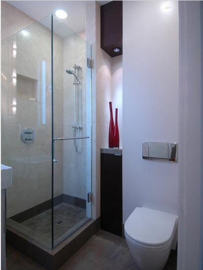 Dise o de cuarto de ba o peque os y medianos con ideas for Lavamanos sobrepuesto