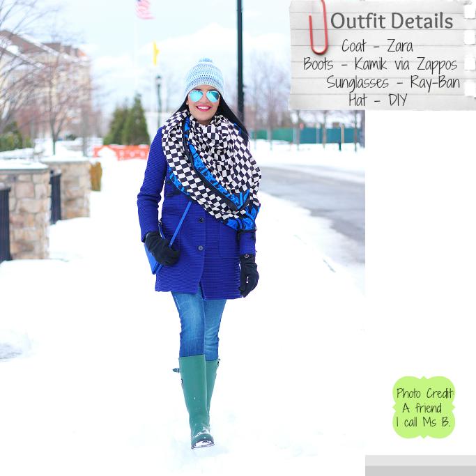 Kamik 'Jennifer' Rain Boots, Green Rain Boots, Hunter Boots Lookalike, Blue Zara Coat