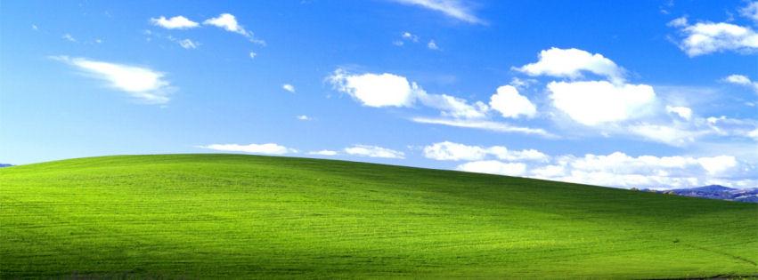 Windows xp bliss facebook cover
