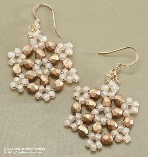 Super Relasé: Orecchini di perline a forma di fiori - i gioielli Fai da Te! WS07