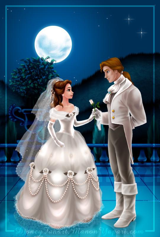 Disney Couple Prince Adam Amp Princess Belle Wallpaper
