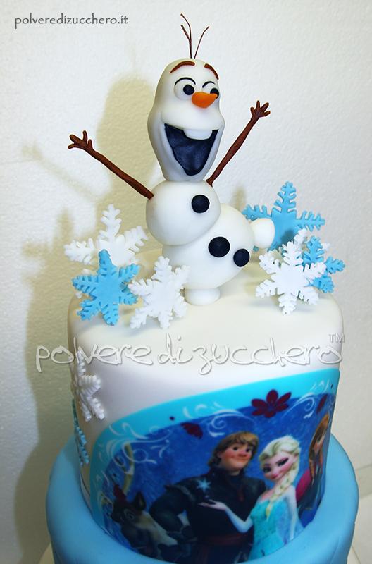 pasta di zucchero cake design torta decorata frozen disney elsa sven olaf modelling polvere di zucchero