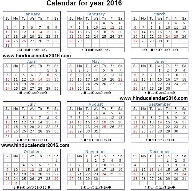 june 2016 hindu calendar