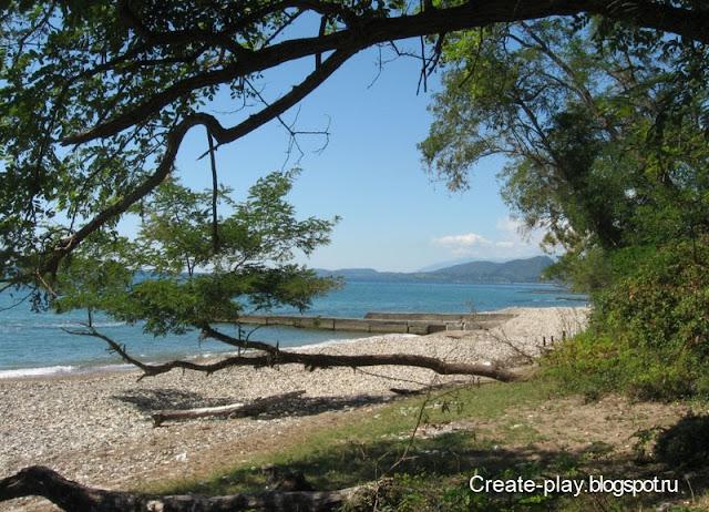 пляж Нижняя Эшера, Абхазия