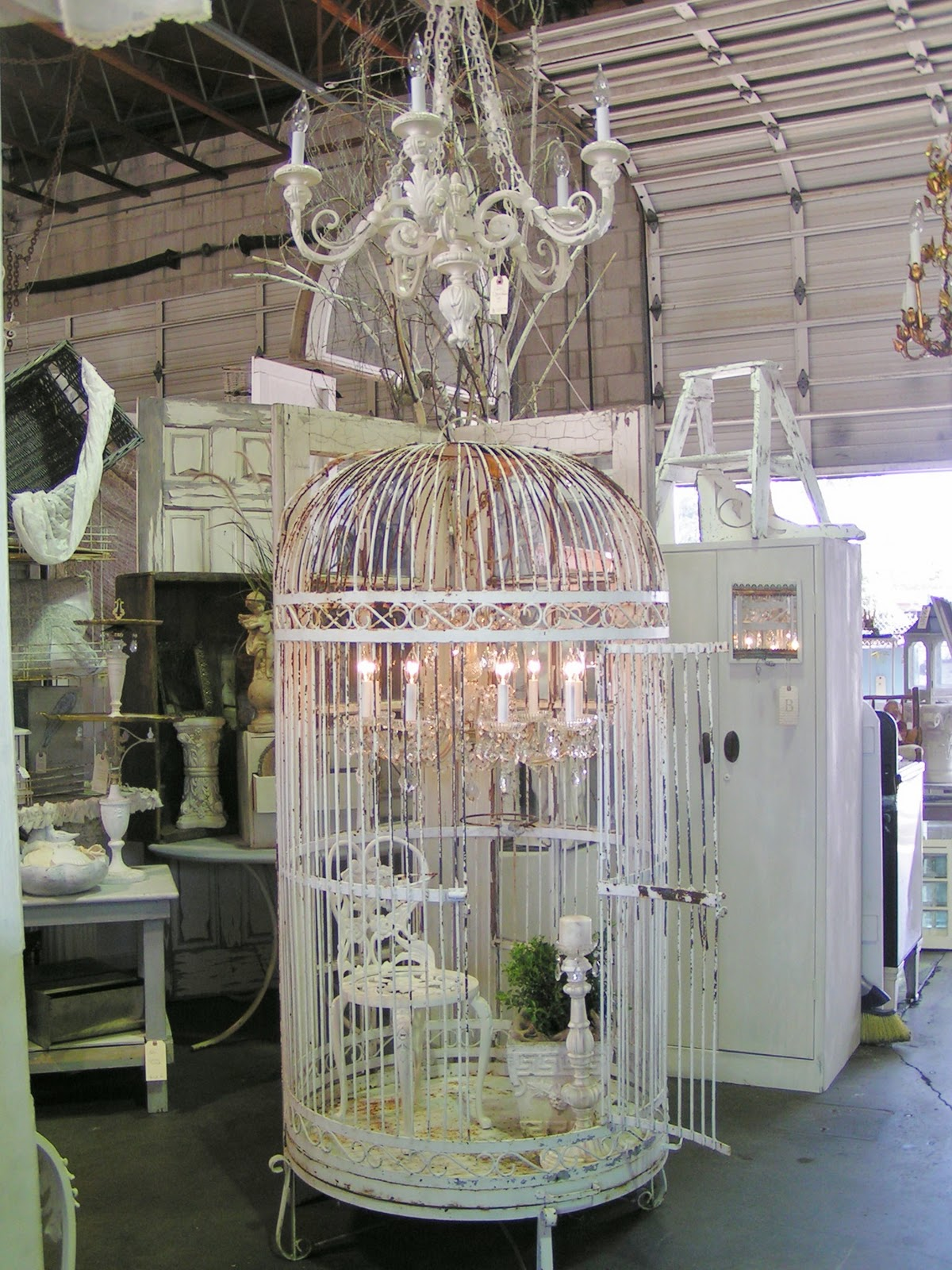 Blossoms vintage chic vintage love at urban barn - Cage a oiseau decorative ...