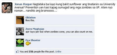 On Sunflowers, from Narinig Ko Sa UP