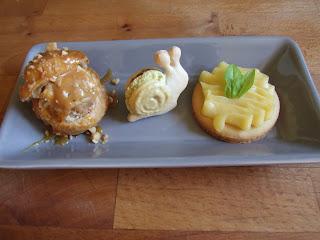 macaron chocolat et tarte au citron