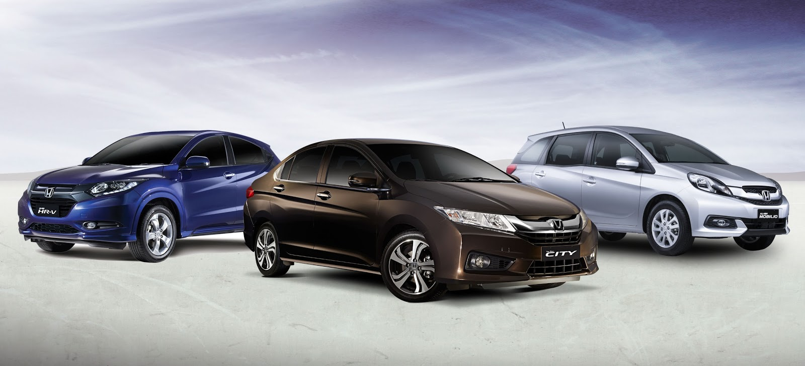 Honda HR-V, Honda City and Honda Mobilio