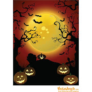 15. Free Vector Halloween background with pumpkin horror background