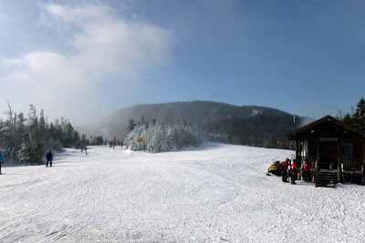 Snowmaking cloud partly obscures Gore's summit, Saturday, Dec. 15, 2012  The Saratoga Skier and Hiker, first-hand accounts of adventures in the Adirondacks and beyond, and Gore Mountain ski blog.