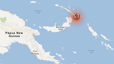 SISMO 5,7 GRADOS EN PAPUA NUEVA GUINEA, 15 DE MAYO 2013