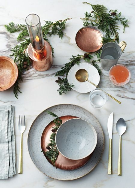Thanksgiving in copper and marble