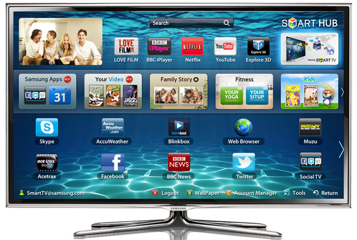 3D Samsung 50 Inchi Smart TV UA50F6400