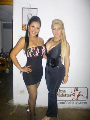 Malu de la Vega Ingrid Rivera Malú de la Vega e Ingrid Rivera, la rubia y la morena de las vedettes Peruanas.