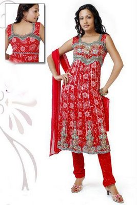 Dress Designers on Designer Chudidar Dress   Latest Design Beautiful Anarkali Dress