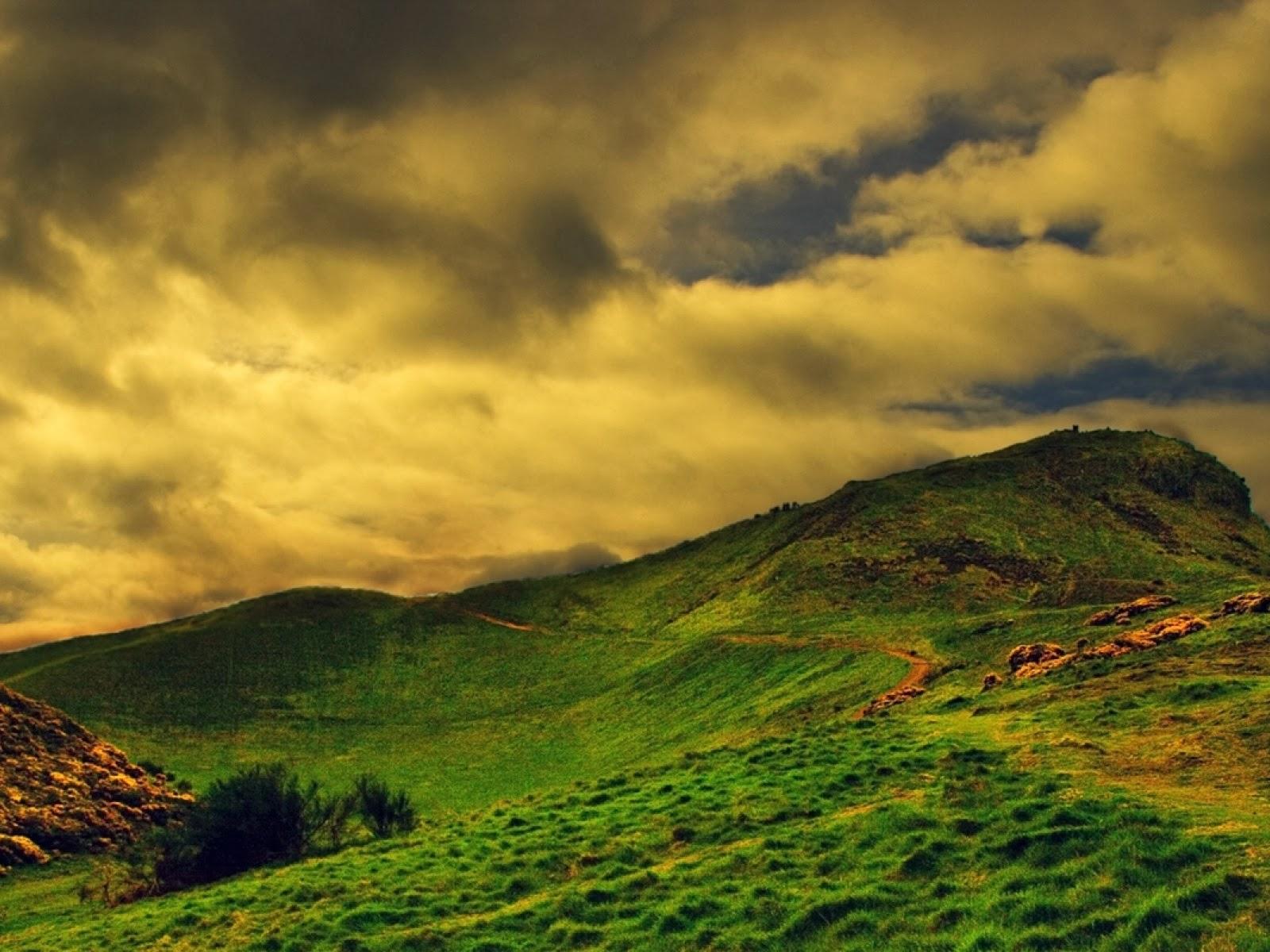Interfaz de cielo Grass Hills