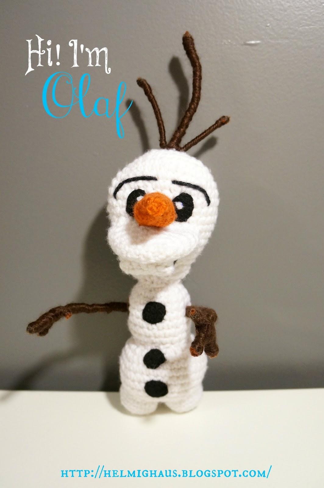 Crochet Doll Cradle Purse Pattern : HelmigHaus: Disneys Frozen Inspired Olaf Amigurumi Doll