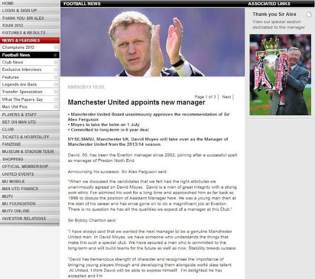 David Moyes Pelatih Baru Manchester United