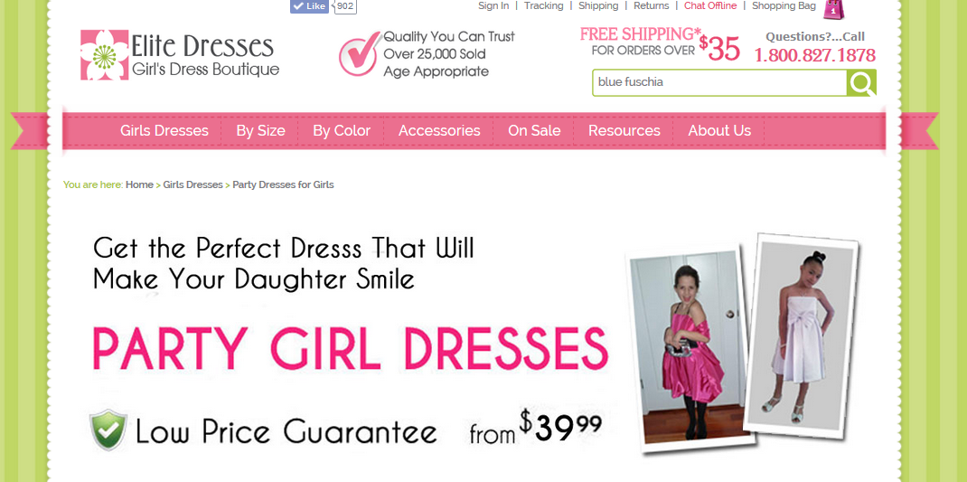 Party Girl Dress Page