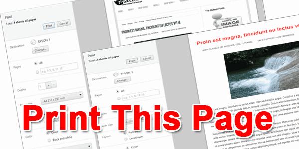 Mengatur Print Area Blog Dengan Onclick Event