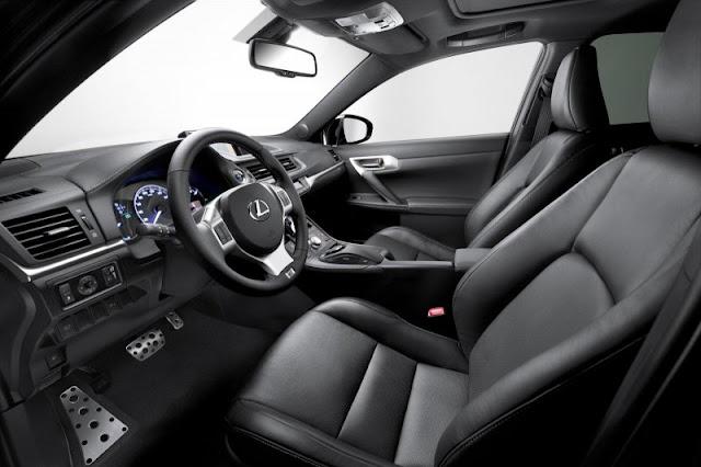 2012 Lexus CT 200h Premium F Sport interior.