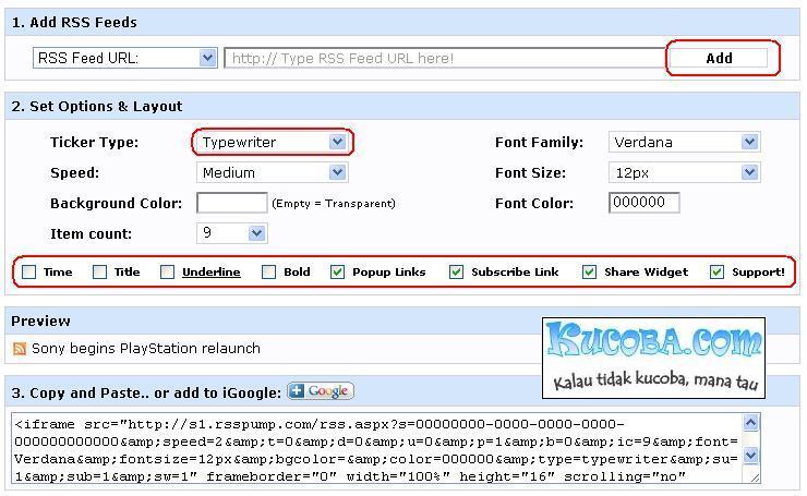Rss News Ticker Widget To Website And Blog Javascript