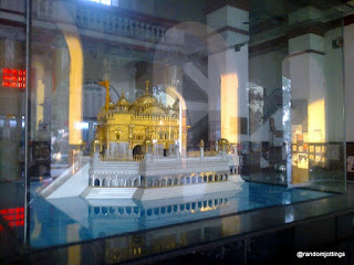 Model of Golden Temple at Amritsar Railway Station.