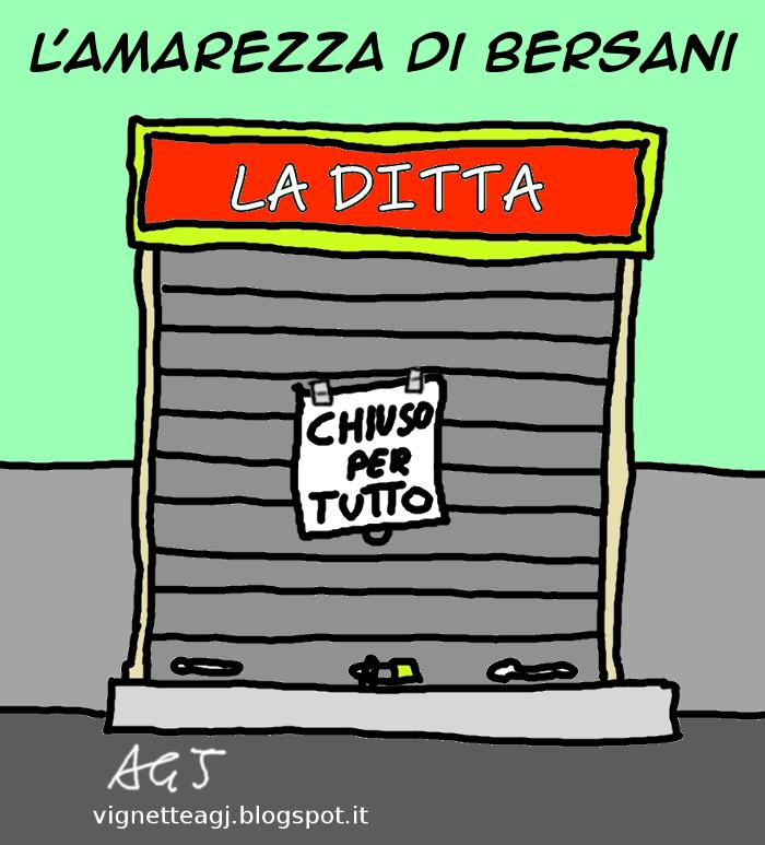 Bersani, PD, satira, vignetta
