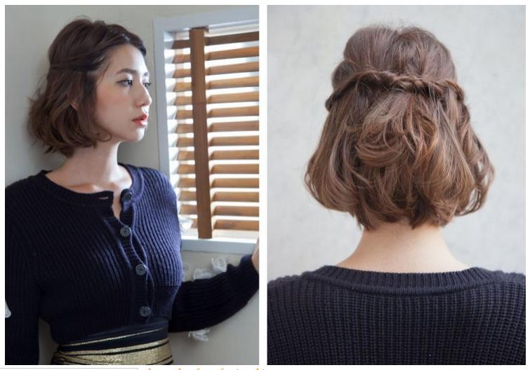Model Rambut Kepang Yang Inspiratif - Gaya rambut pendek kepang