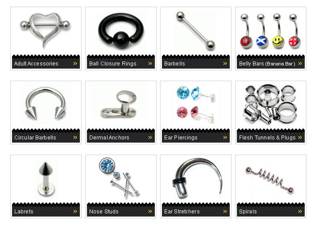 Body Jewellery and Body Piercing Accessories Online
