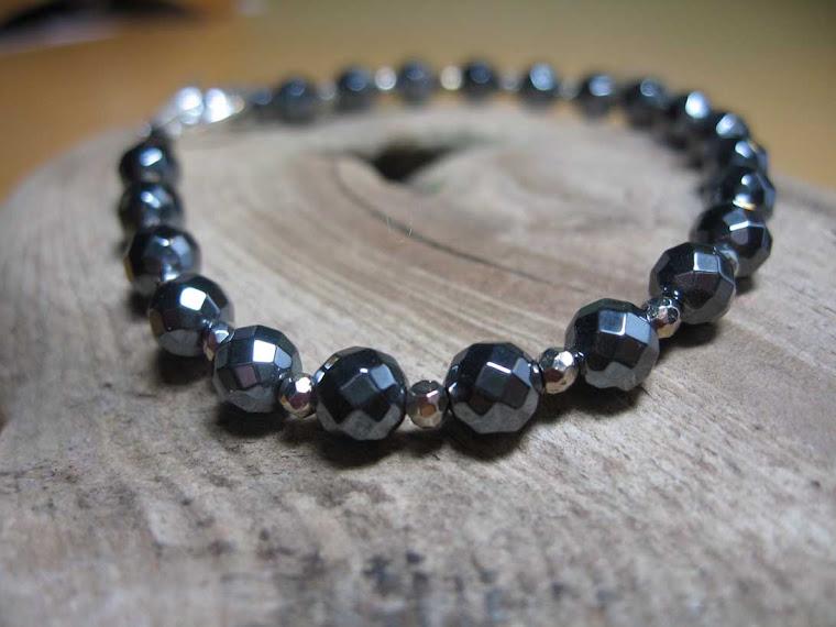 Hematite/Pyrite Sterling Silver Bracelet