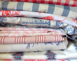 Red and Blue Fabrics