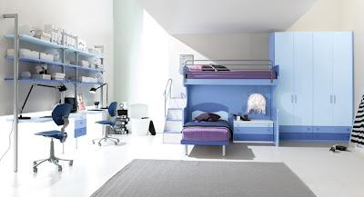 Mavi+%25C3%25A7ocuk+odas%25C4%25B1+dizayn%25C4%25B1 Erkek Çocuk Yatak Odası Modelleri