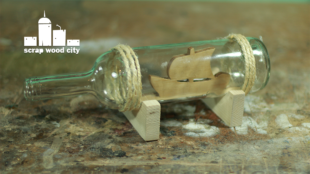 Scrap wood city place a boat in a cut glass bottle for How do i cut glass bottles