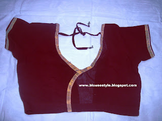zari work Kerala blouse